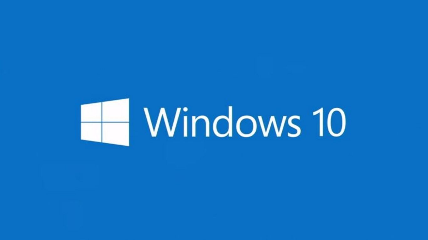 логотип Windows 10, голубой фон, виндовс десять, full hd обои