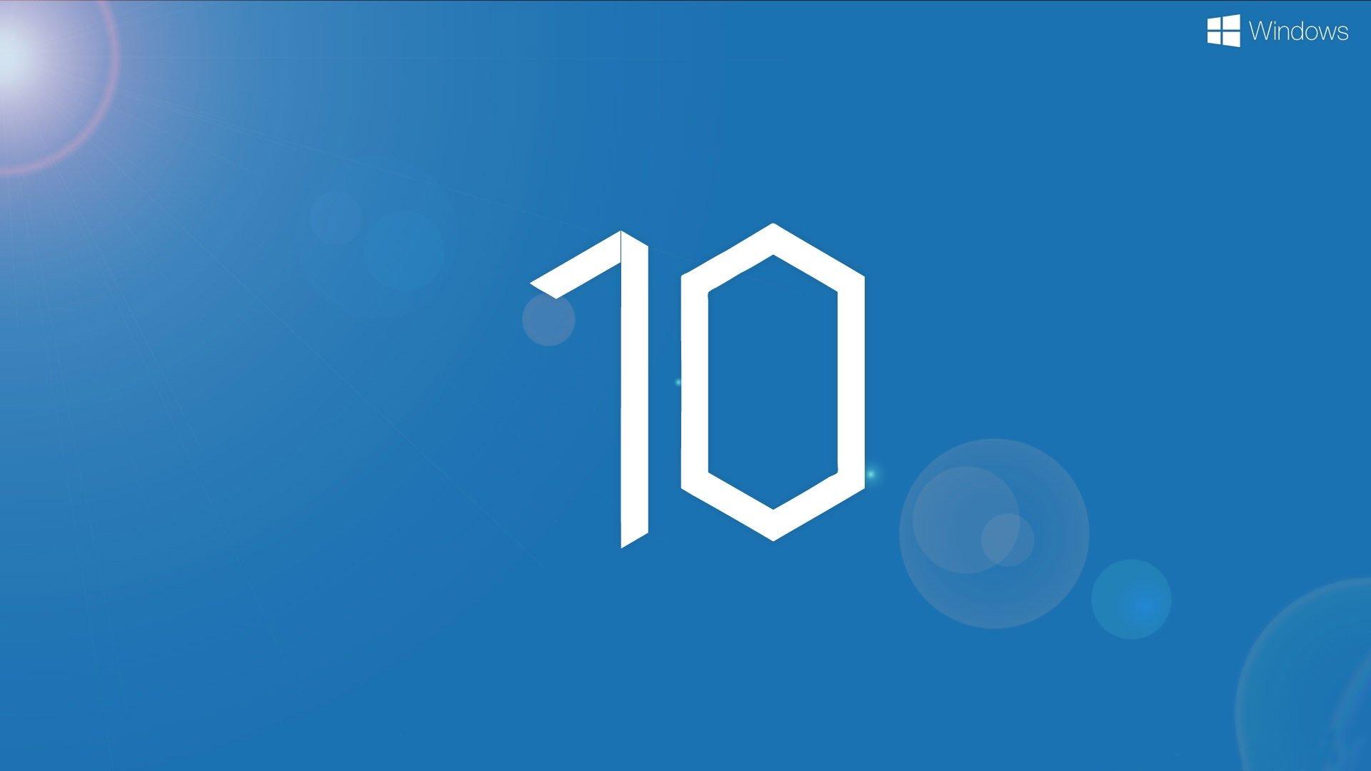 windows 10, microsoft, os, логотип, десятка, hd