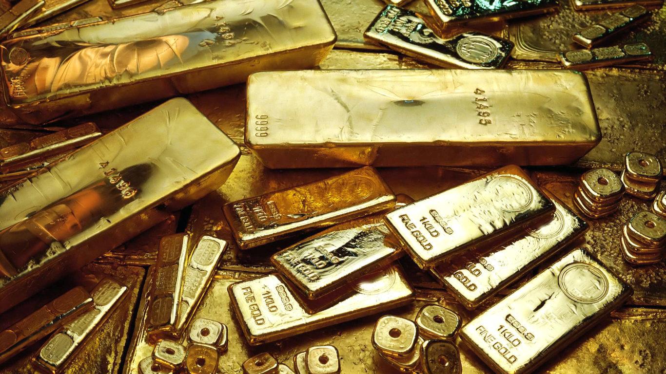 золото, слитки, финансы, широкоформатные