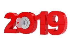 новогодние обои, ключ, 2019, hd заставка, Новый год