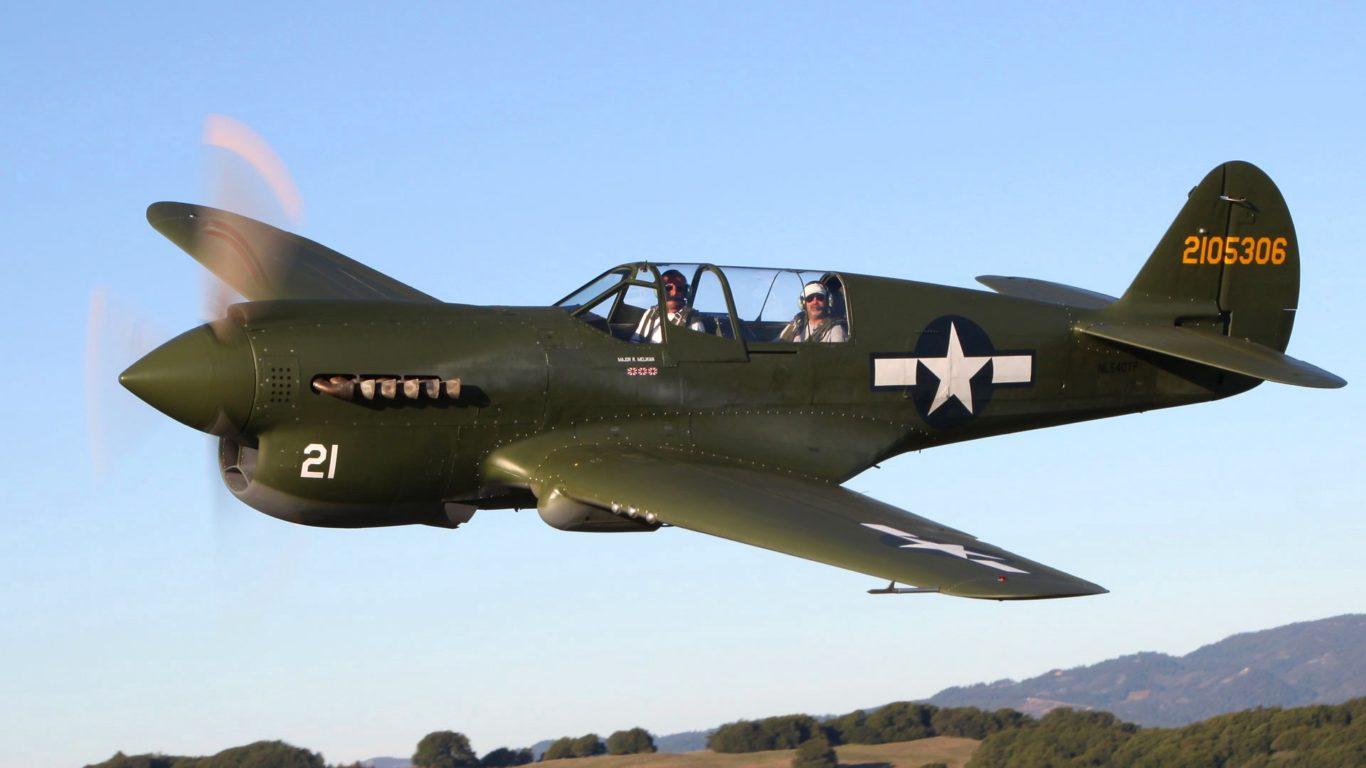 Curtiss P-40 warhawk, самолеты,