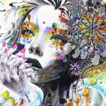 Девушка абстракция