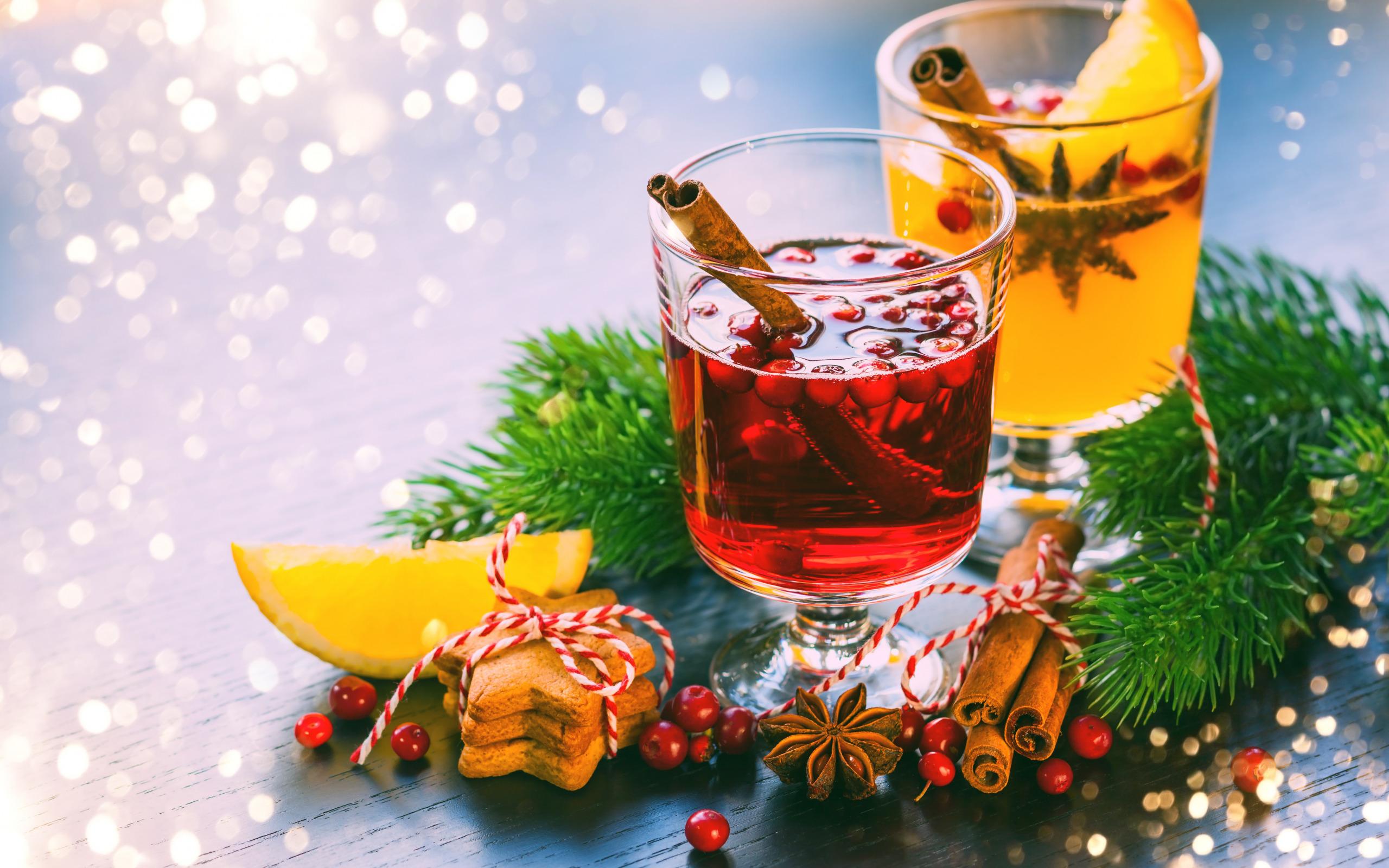 Новогодние заставки, Новый Год, глинтвейн, праздник, печенье, корица, композиция, hd обои