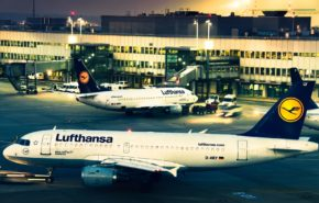 Авиация, самолеты, аэропорт, lufthansa, airbus