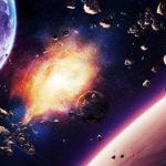 Взрыв планеты в космосе