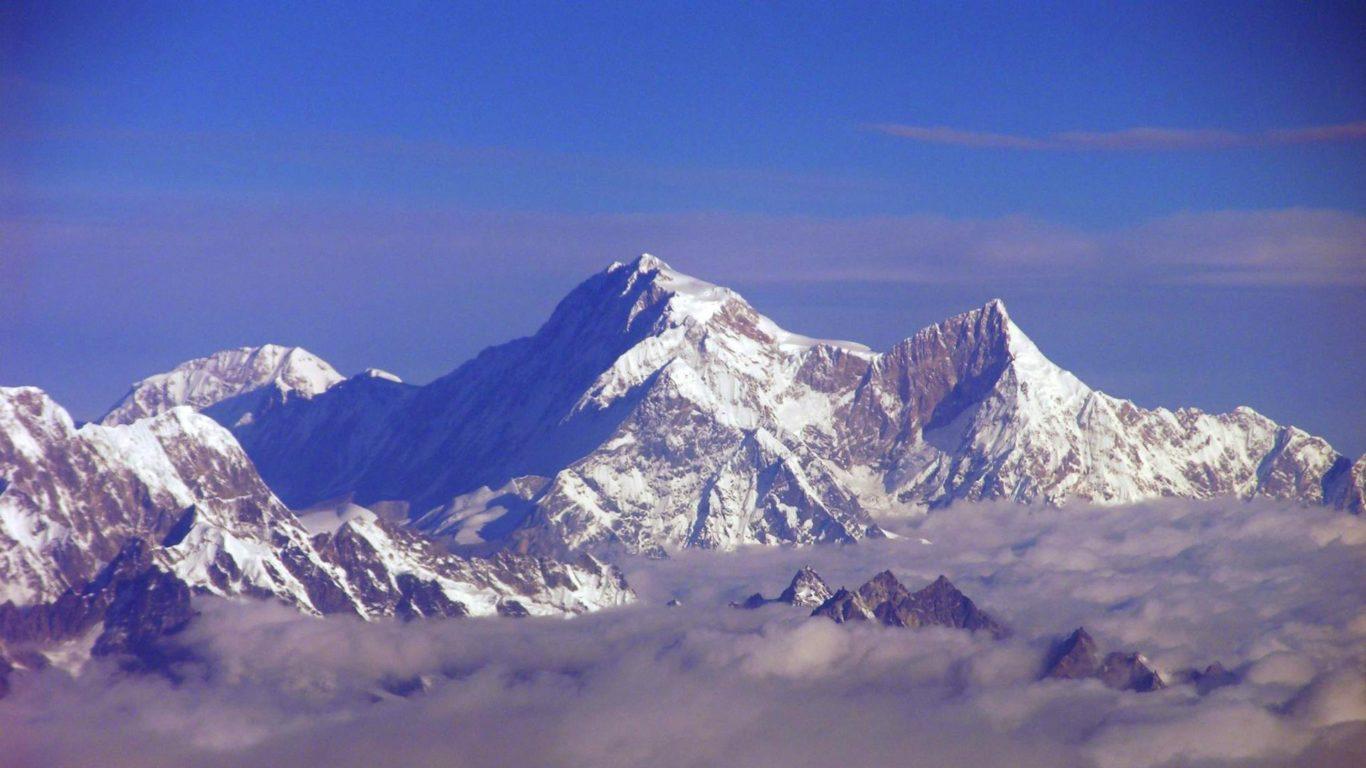 горы, снег, Гора Канченджанга, hd обои