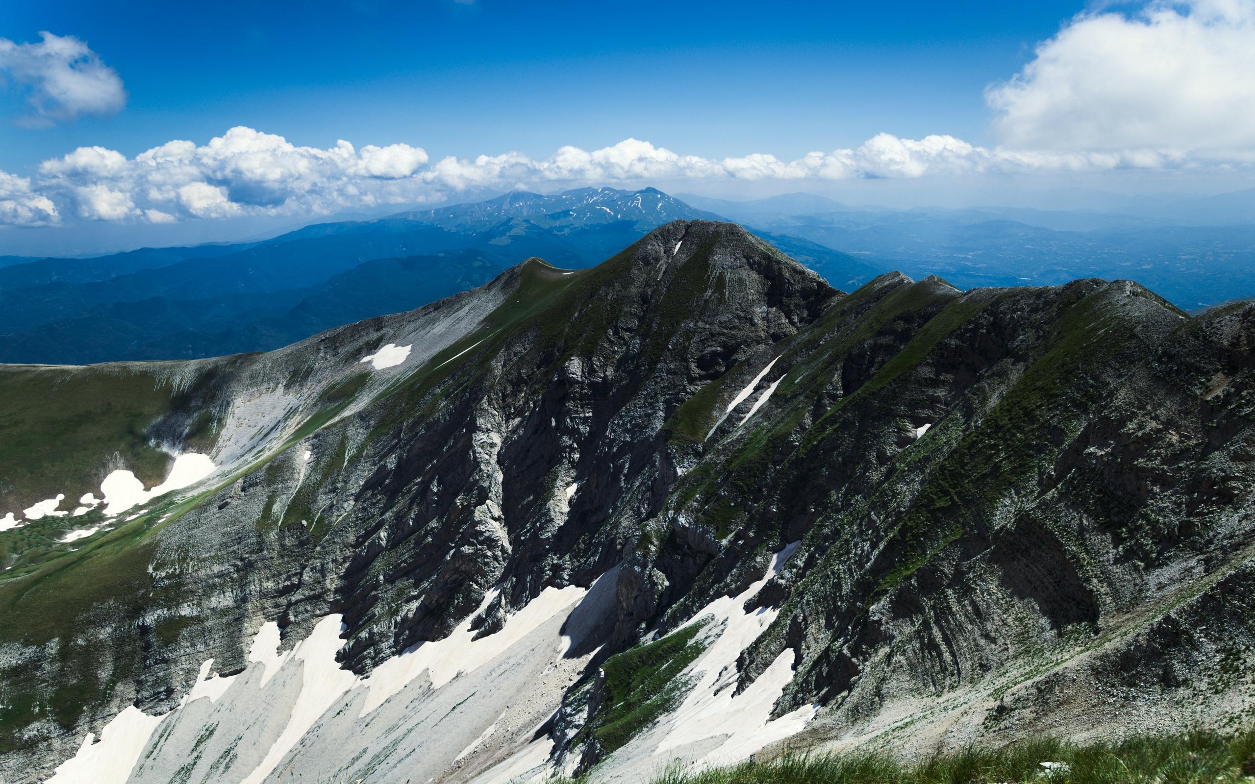 Альпы, горы, Италия, небо, облака, трава, hd обои