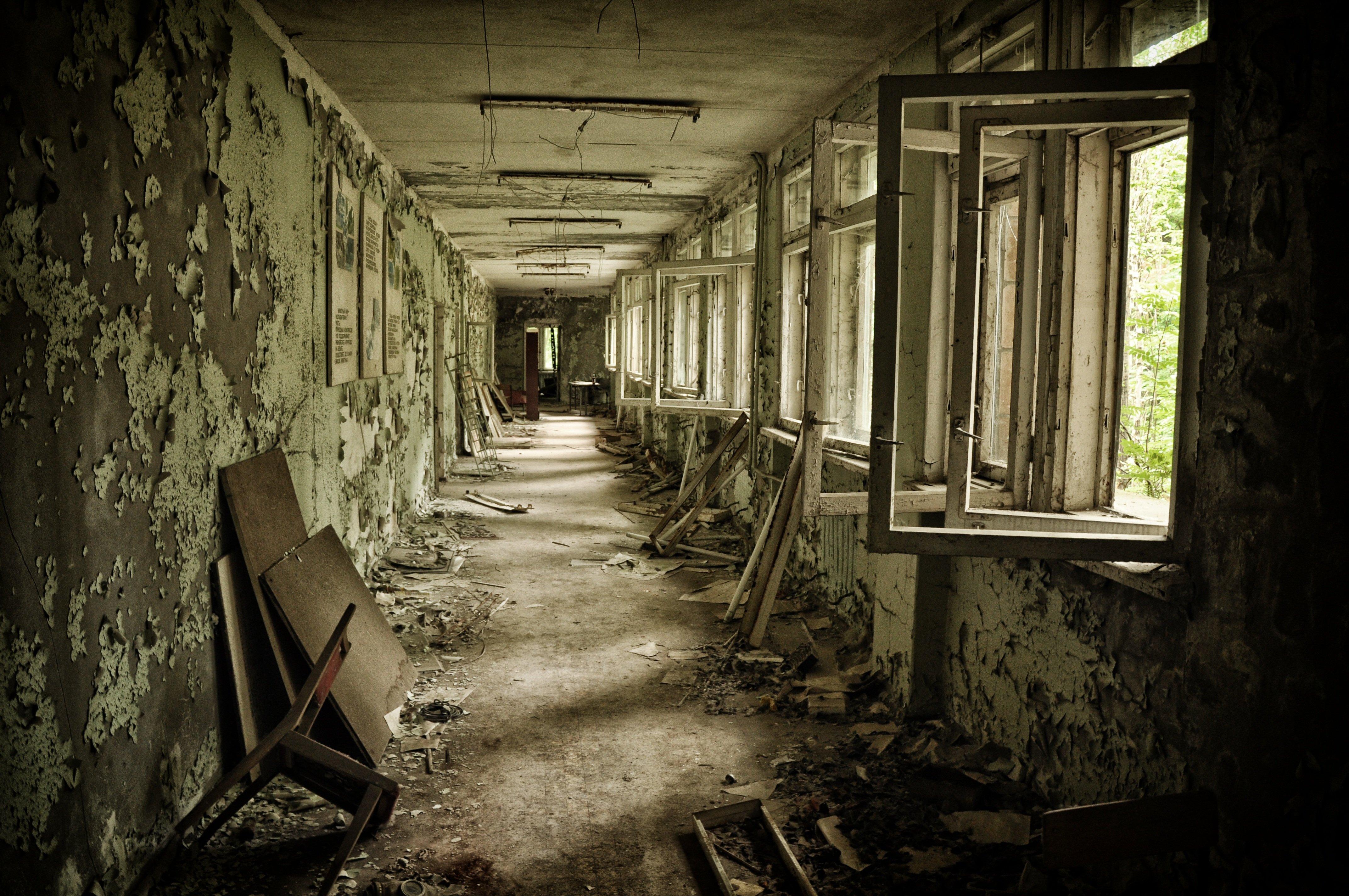 Чернобыль 4k обои, Украина, Припять, заброшенный дом