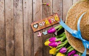Весна, Spring, цветы, тюльпаны, шляпа