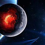 Мощный взрыв на планете