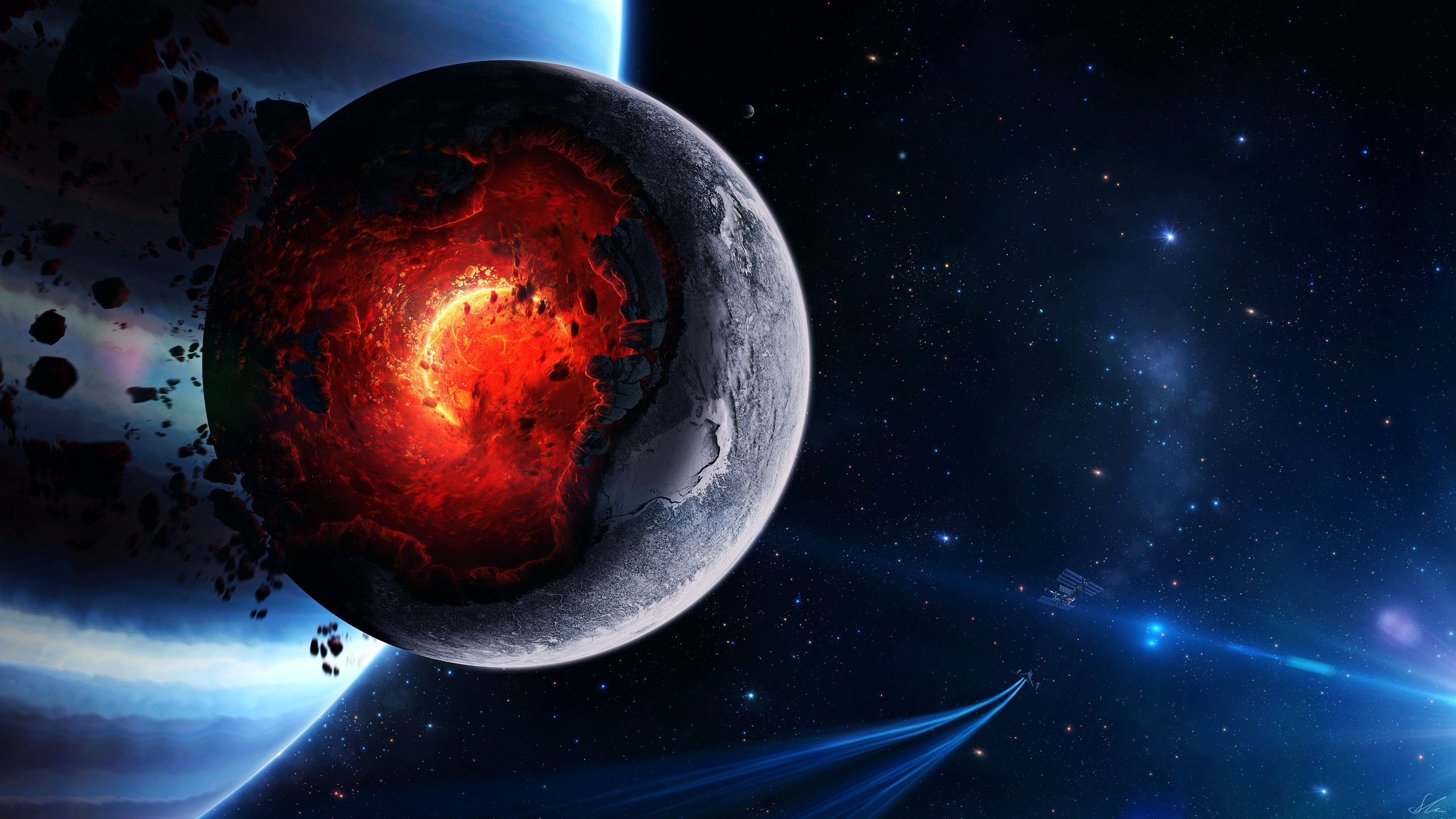 картинки на стол красивый космос, планеты, взрыв